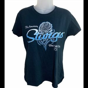 Sturgis 75th Anniversary Motorcycle Tee Size Large